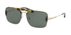 Prada CONCEPTUAL PR56VS Pillow Sunglasses  09R254-MEDIUM HAVANA/PALE GOLD 33-133-140 - Color Map havana