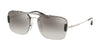 Prada CONCEPTUAL PR56VS Pillow Sunglasses  1BC4S1-SILVER 33-133-140 - Color Map silver