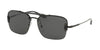 Prada CONCEPTUAL PR56VS Pillow Sunglasses  7AX5S0-BLACK 33-133-140 - Color Map black