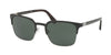Prada PR61SS Square Sunglasses  1AB3O1-BLACK/GUNMETAL 55-21-140 - Color Map black