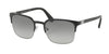 Prada PR61SS Square Sunglasses  1BO3M1-MATTE BLACK/GUNMETAL 55-21-140 - Color Map black