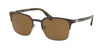 Prada PR61SS Square Sunglasses  U6C5Y1-GREY/GUNMETAL 55-21-140 - Color Map yellow