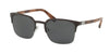 Prada PR61SS Square Sunglasses  USF1A1-BROWN/GUMMETAL 55-21-140 - Color Map brown