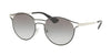Prada CATWALK PR62SS Phantos Sunglasses  1AB0A7-BLACK/SILVER 53-19-140 - Color Map black