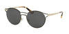 Prada CATWALK PR62SS Phantos Sunglasses  1AB5S0-BLACK/PALE GOLD 53-19-140 - Color Map black
