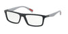 Prada Linea Rossa PS02FV Rectangle Eyeglasses  TFZ1O1-GREY RUBBER 54-16-135 - Color Map grey