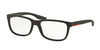 Prada Linea Rossa PS02GV Rectangle Eyeglasses  UB01O1-BROWN RUBBER 54-17-145 - Color Map brown