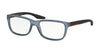 Prada Linea Rossa PS02GV Rectangle Eyeglasses  UB91O1-LIGHT GREY RUBBER 56-17-145 - Color Map grey