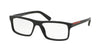Prada Linea Rossa LIFESTYLE PS04GVF Rectangle Eyeglasses  1AB1O1-BLACK 55-16-140 - Color Map black