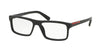Prada Linea Rossa LIFESTYLE PS04GVF Rectangle Eyeglasses  1BO1O1-MATTE BLACK 55-16-140 - Color Map black