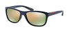 Prada Linea Rossa PS05PS Pillow Sunglasses  MA32D2-BLUE DEMI SHINY 58-18-140 - Color Map blue