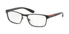 Prada Linea Rossa LIFESTYLE PS50GV Rectangle Eyeglasses  1AB1O1-BLACK 55-17-140 - Color Map black