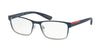 Prada Linea Rossa LIFESTYLE PS50GV Rectangle Eyeglasses  U6T1O1-BLUE GRADIENT 55-17-140 - Color Map blue