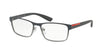 Prada Linea Rossa LIFESTYLE PS50GV Rectangle Eyeglasses  U6U1O1-GREY GRADIENT 55-17-140 - Color Map grey