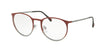 Prada Linea Rossa PS50HV Phantos Eyeglasses  U6V1O1-TOP BORDEAUX GRADIENT/GUNMETAL 50-19-140 - Color Map bordeaux