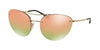 Prada Linea Rossa PS51RS Irregular Sunglasses  ZVN5L2-PALE GOLD 59-18-135 - Color Map gold