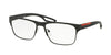 Prada Linea Rossa PS52GV Square Eyeglasses  DG01O1-BLACK RUBBER 57-17-140 - Color Map black