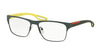 Prada Linea Rossa PS52GV Square Eyeglasses  UFI1O1-GREEN RUBBER 57-17-140 - Color Map green