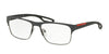 Prada Linea Rossa PS52GV Square Eyeglasses  UFK1O1-GREY/LEAD RUBBER 57-17-140 - Color Map grey