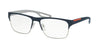 Prada Linea Rossa PS52GV Square Eyeglasses  UR51O1-BLUE/STEEL RUBBER 57-17-140 - Color Map blue