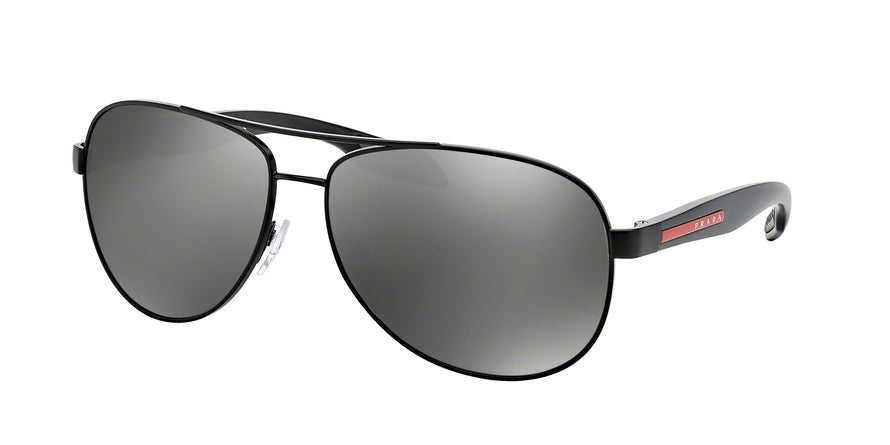 Prada Linea Rossa LIFESTYLE PS53PS Pilot Sunglasses  1BO7W1-BLACK DEMI SHINY 62-14-135 - Color Map black