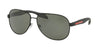 Prada Linea Rossa LIFESTYLE PS53PS Pilot Sunglasses  DG05X1-BLACK RUBBER 62-14-135 - Color Map black