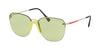 Prada Linea Rossa LIFESTYLE PS53US Square Sunglasses  381348-SILVER 57-13-145 - Color Map silver