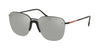 Prada Linea Rossa LIFESTYLE PS53US Square Sunglasses  DG02B0-BLACK RUBBER 57-13-145 - Color Map black
