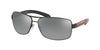 Prada Linea Rossa PS54IS Rectangle Sunglasses  1AB2F2-BLACK 65-14-125 - Color Map black