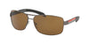 Prada Linea Rossa PS54IS Rectangle Sunglasses  5AV5Y1-GUNMETAL 65-14-125 - Color Map gunmetal
