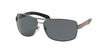 Prada Linea Rossa PS54IS Rectangle Sunglasses  5AV5Z1-GUNMETAL 65-14-125 - Color Map gunmetal