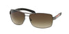 Prada Linea Rossa PS54IS Rectangle Sunglasses  5AV6S1-GUNMETAL 65-14-125 - Color Map gunmetal