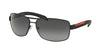 Prada Linea Rossa PS54IS Rectangle Sunglasses  DG05W1-BLACK RUBBER 65-14-125 - Color Map black
