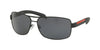 Prada Linea Rossa PS54IS Rectangle Sunglasses  DG05Z1-BLACK RUBBER 65-14-125 - Color Map black
