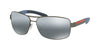 Prada Linea Rossa PS54IS Rectangle Sunglasses  DG12F2-GUNMETAL RUBBER 65-14-125 - Color Map gunmetal