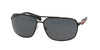 Prada Linea Rossa PS54OS Irregular Sunglasses  1BO5Z1-DEMI-SHINY BLACK 64-13-125 - Color Map black