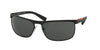 Prada Linea Rossa PS54QS Rectangle Sunglasses  DG01A1-BLACK RUBBER 63-17-130 - Color Map black