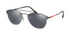 Prada Linea Rossa LIFESTYLE PS55TS Pilot Sunglasses  1AB5L0-BLACK 59-16-145 - Color Map black