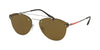 Prada Linea Rossa LIFESTYLE PS55TS Pilot Sunglasses  1AP2P1-MATTE SILVER 59-16-145 - Color Map silver