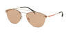 Prada Linea Rossa LIFESTYLE PS55TS Pilot Sunglasses  1BK1P1-MATTE PALE GOLD 59-16-145 - Color Map gold