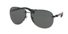Prada Linea Rossa PS 56MS (65) PS56MS Pilot Sunglasses  1BO1A1-BLACK DEMI SHINY 62-14-130 - Color Map black