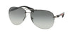 Prada Linea Rossa PS 56MS (65) PS56MS Pilot Sunglasses  5AV3M1-GUNMETAL 62-14-130 - Color Map gunmetal