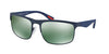 Prada Linea Rossa RUBBERMAX PS56PS Rectangle Sunglasses  TFY3C0-BLUE RUBBER 60-18-135 - Color Map blue