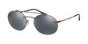 Prada Linea Rossa LIFESTYLE PS56TS Oval Sunglasses  1AB5L0-BLACK 55-18-145 - Color Map black