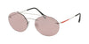Prada Linea Rossa LIFESTYLE PS56TS Oval Sunglasses  1BC214-SILVER 55-18-145 - Color Map silver