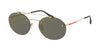 Prada Linea Rossa LIFESTYLE PS56TS Oval Sunglasses  ZVN4L0-PALE GOLD 55-18-145 - Color Map gold