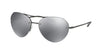 Prada Linea Rossa PS57RS Irregular Sunglasses  7AX5L0-BLACK 59-16-135 - Color Map black