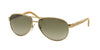 Ralph RA4004 Pilot Sunglasses  101/13-GOLD/CREAM 59-13-130 - Color Map gold