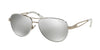 Ralph RA4115 Pilot Sunglasses  30996G-WHITE/SILVER 58-14-135 - Color Map white