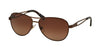 Ralph RA4115 Pilot Sunglasses  3101T5-SATIN BROWN 58-14-135 - Color Map brown